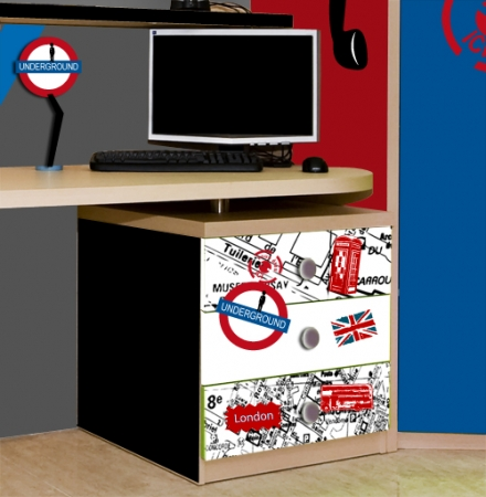 d co bureau stickers londres idee deco sticker. Black Bedroom Furniture Sets. Home Design Ideas