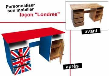 sticker drapeau anglais personnalisez votre mobilier idee deco sticker. Black Bedroom Furniture Sets. Home Design Ideas